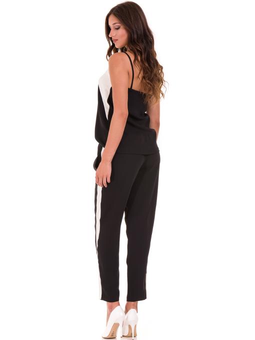 Дамски панталон ZANZI с ластик 1297 - черен C1