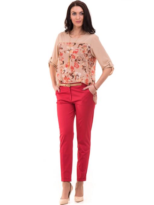 Дамски панталон ZANZI с парамент 21179 - червен C