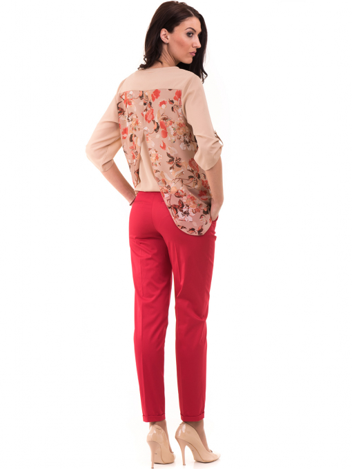 Дамски панталон ZANZI с парамент 21179 - червен E