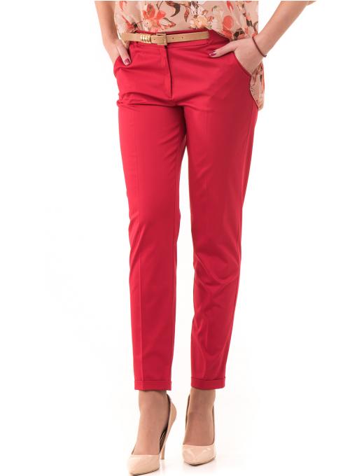 Дамски панталон ZANZI с парамент 21179 - червен