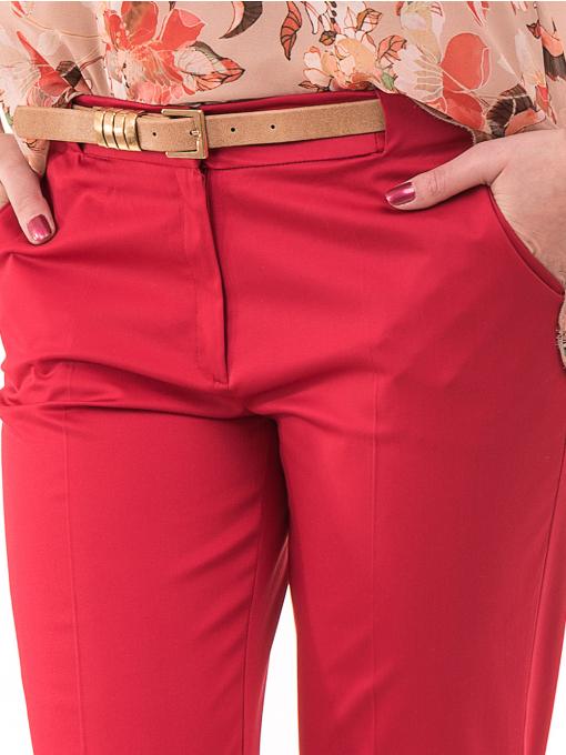 Дамски панталон ZANZI с парамент 21179 - червен D