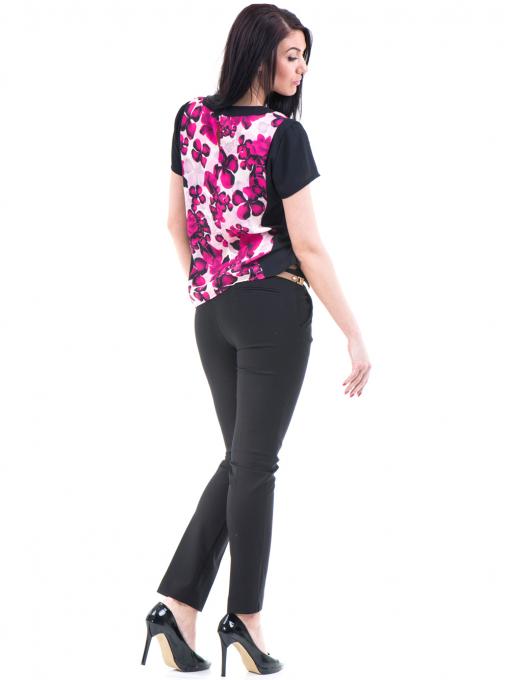 Дамски панталон ZANZI с колан 21193 - черен E