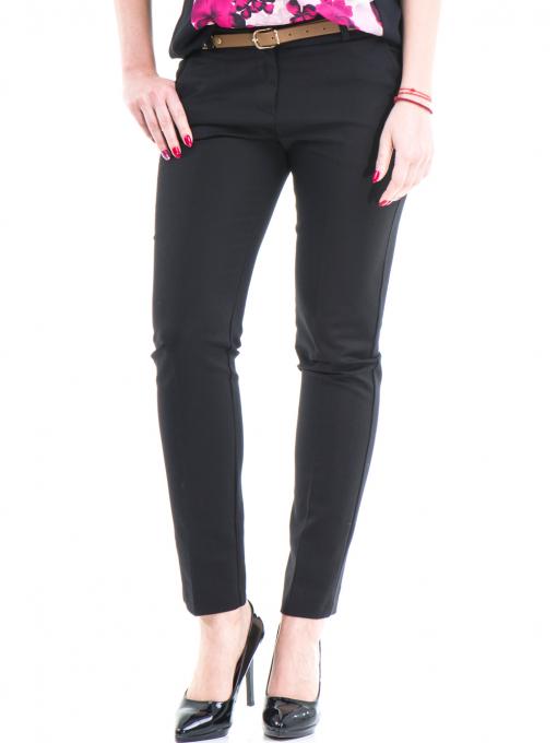 Дамски панталон ZANZI с колан 21193 - черен