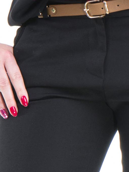 Дамски панталон ZANZI с колан 21193 - черен D