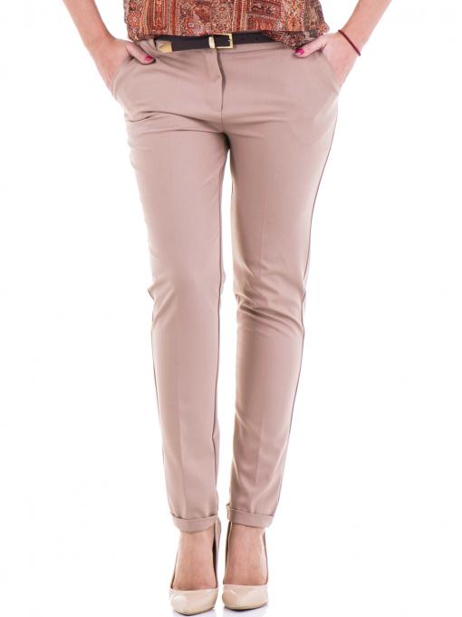 Дамски елегантен панталон ZANZI  с колан 31179 - бежов
