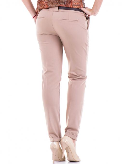 Дамски елегантен панталон ZANZI  с колан 31179 - бежов B