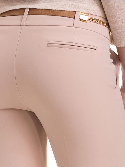 Елегантен дамски панталон ZANZI с колан 41107 - светло бежов D