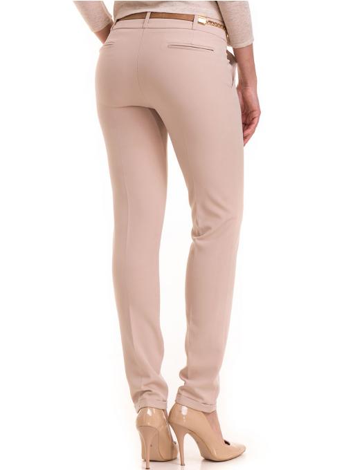 Елегантен дамски панталон ZANZI с колан 41107 - светло бежов B