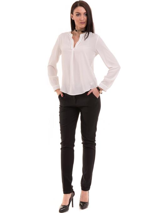 Елегантен дамски панталон ZANZI с колан 41107 - черен C