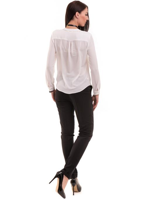 Елегантен дамски панталон ZANZI с колан 41107 - черен E