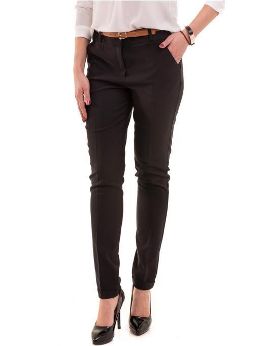 Елегантен дамски панталон ZANZI с колан 41107 - черен