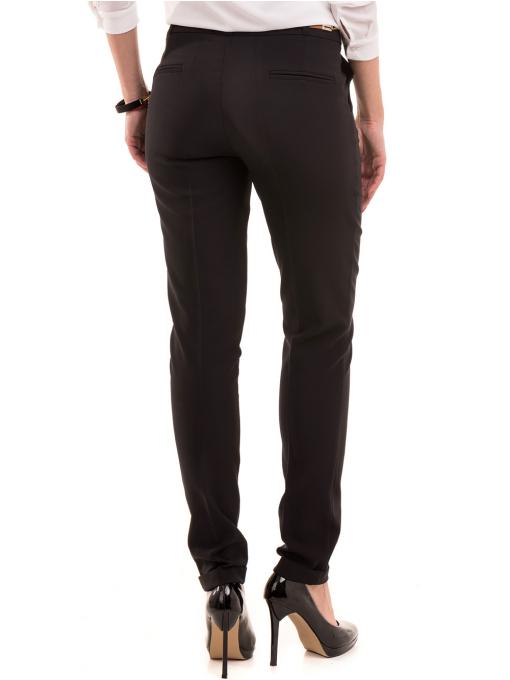 Елегантен дамски панталон ZANZI с колан 41107 - черен B