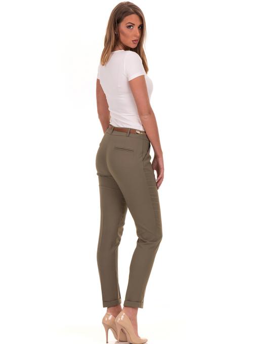 Дамски панталон ZANZI с колан 51107 - цвят каки E