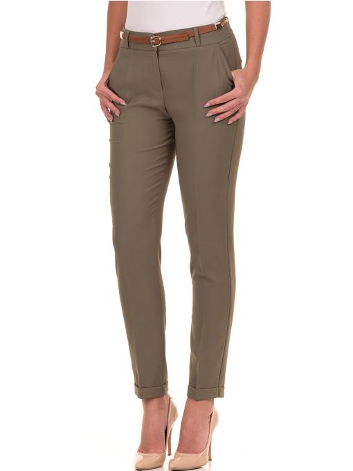 Дамски панталон ZANZI с колан 51107 - цвят каки