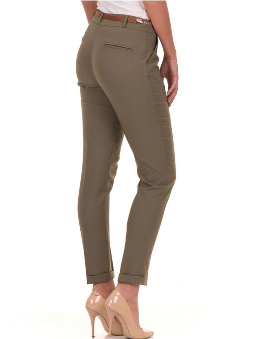 Дамски панталон ZANZI с колан 51107 - цвят каки B