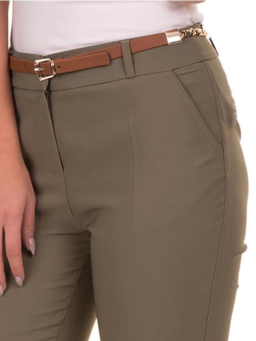 Дамски панталон ZANZI с колан 51107 - цвят каки D
