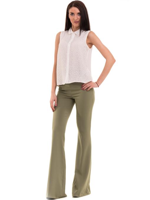 Дамски чарлстон панталон ZANZI 51245 - цвят каки C