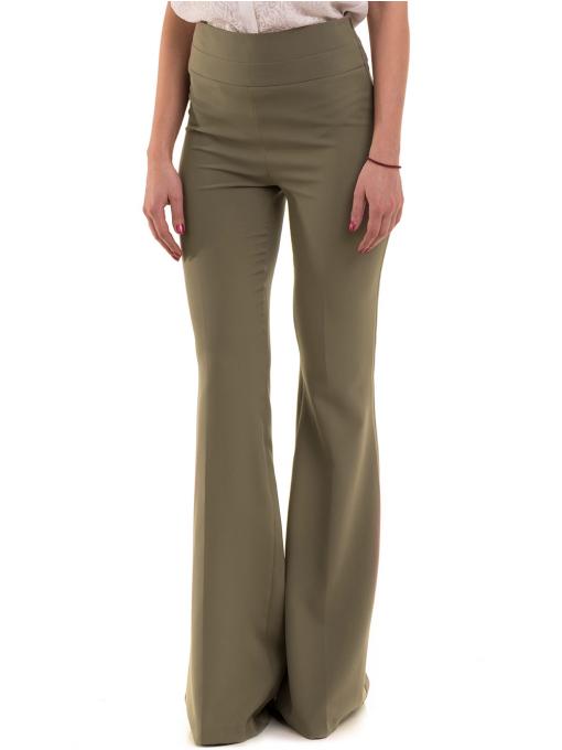 Дамски чарлстон панталон ZANZI 51245 - цвят каки