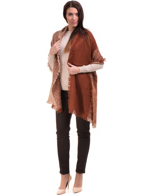 Дамски панталон ZANZI с колан A11107 - цвят кафяв C1
