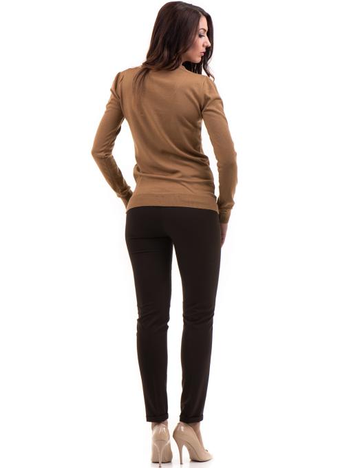 Дамски панталон ZANZI с колан A11107 - цвят кафяв E