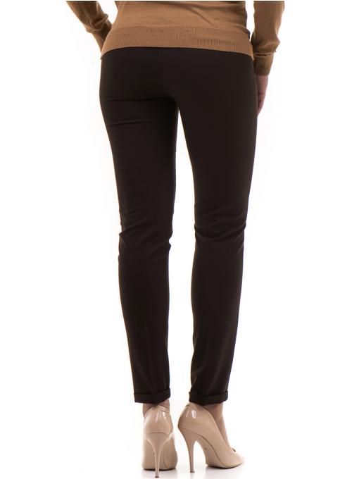 Дамски панталон ZANZI с колан A11107 - цвят кафяв B
