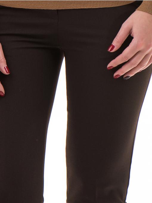 Дамски панталон ZANZI с колан A11107 - цвят кафяв D