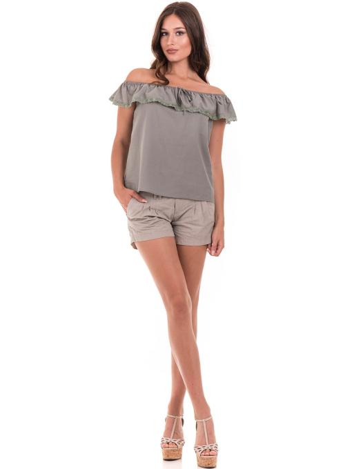 Дамска блуза свободен модел JOVENNA 2125 - каки C1