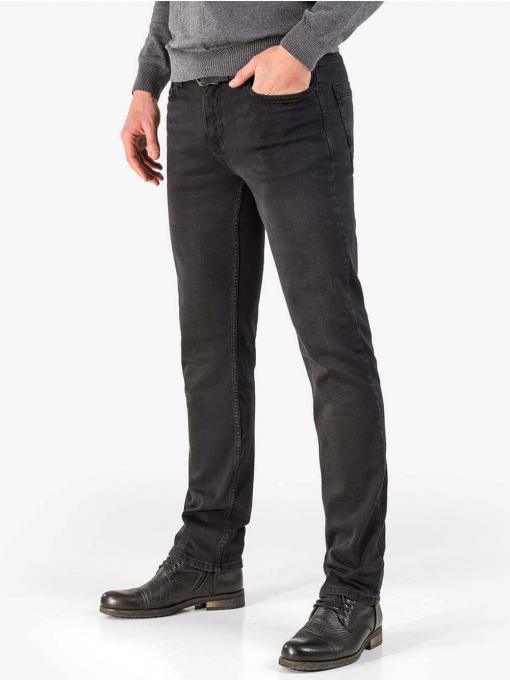 Черни прави мъжки дънки 5160 INDIGO Fashion