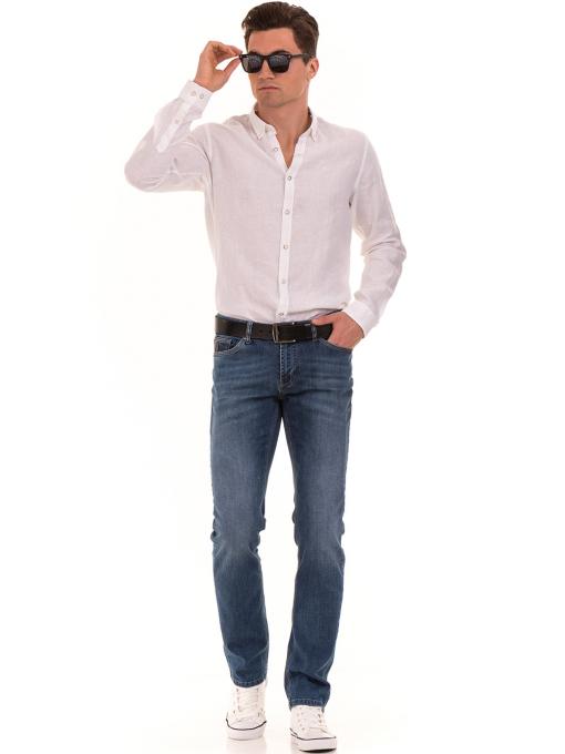 Черен мъжки колан от естествена кожа 53172 INDIGO Fashion