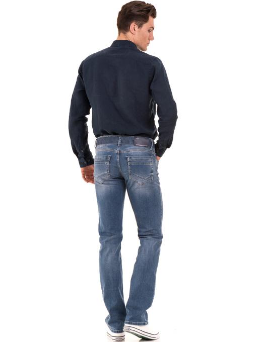 Мъжки класически дънки LACARINO 3186 с колан - деним E