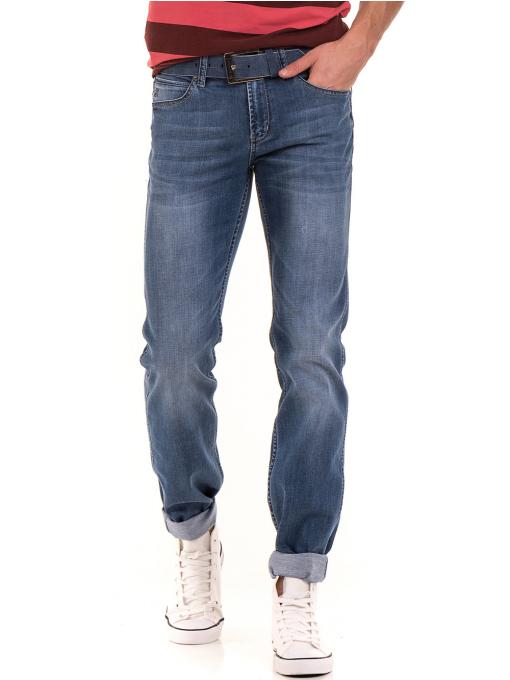 Мъжки класически дънки LACARINO 3223 с колан - деним