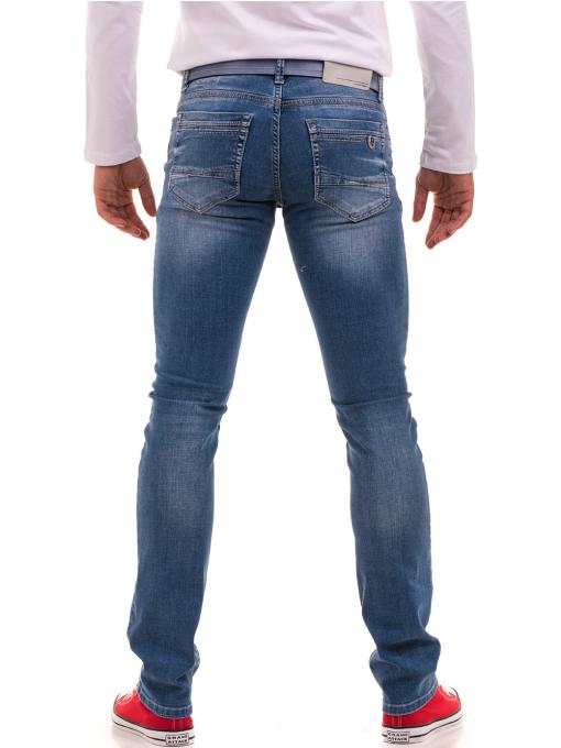 Мъжки класически дънки LACARINO 3269 с колан - деним B
