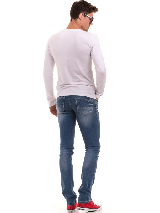 Мъжки класически дънки LACARINO 3269 с колан - деним E