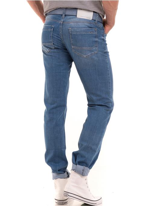 Мъжки класически дънки LACARINO 3271 с колан - светъл деним B