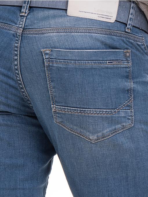 Мъжки класически дънки LACARINO 3271 с колан - светъл деним D