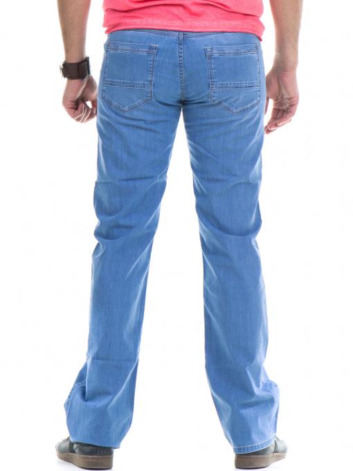 Мъжки класически дънки  LACARINO 3356 с колан - светъл деним B