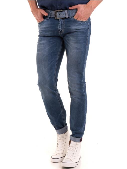 Мъжки дънки LACARINO 3402 с колан - деним
