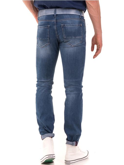 Мъжки дънки LACARINO 3402 с колан - деним B