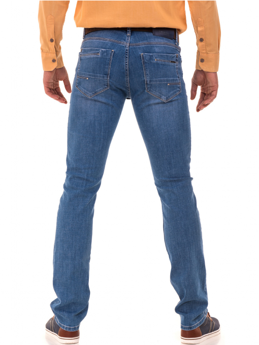 Мъжки дънки LACARINO 3793 с права кройка - деним B