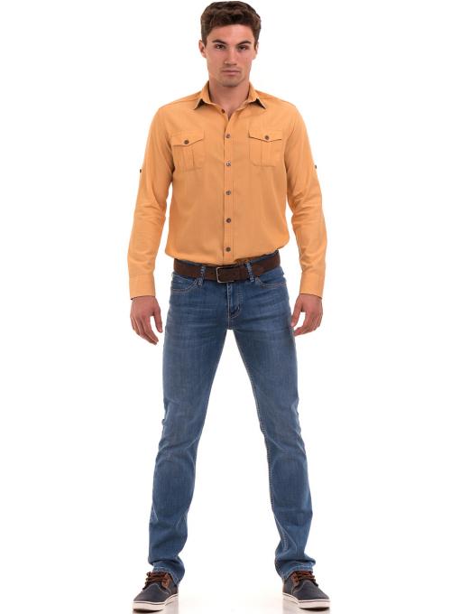 Мъжки дънки LACARINO 3793 с права кройка - деним C
