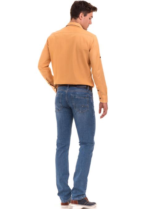 Мъжки дънки LACARINO 3793 с права кройка - деним E