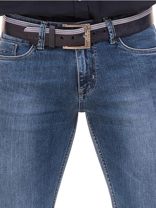 Мъжки класически дънки LACARINO 3800 с колан - деним D