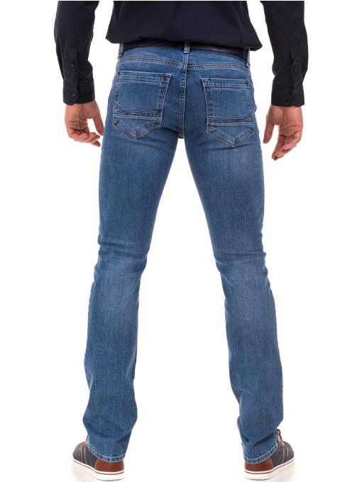 Мъжки класически дънки LACARINO 3800 с колан - деним B