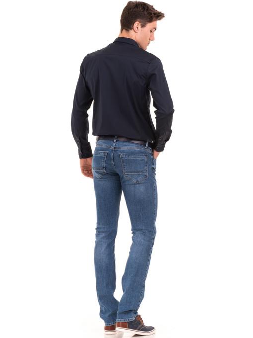 Мъжки класически дънки LACARINO 3800 с колан - деним E
