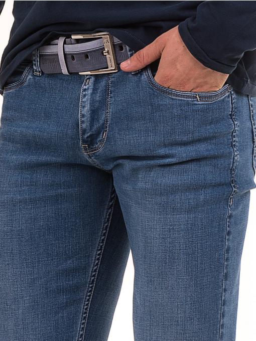 Мъжки класически дънки LACARINO 3857 с колан - деним D