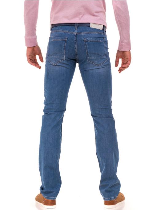Мъжки класически дънки LACARINO 3880 с колан - светъл деним B