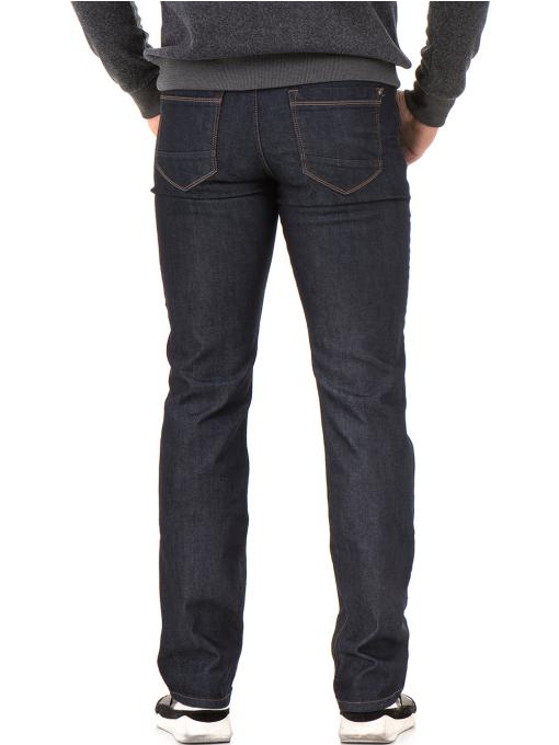 Мъжки класически дънки LACARINO 4156 с колан - тъмен деним B