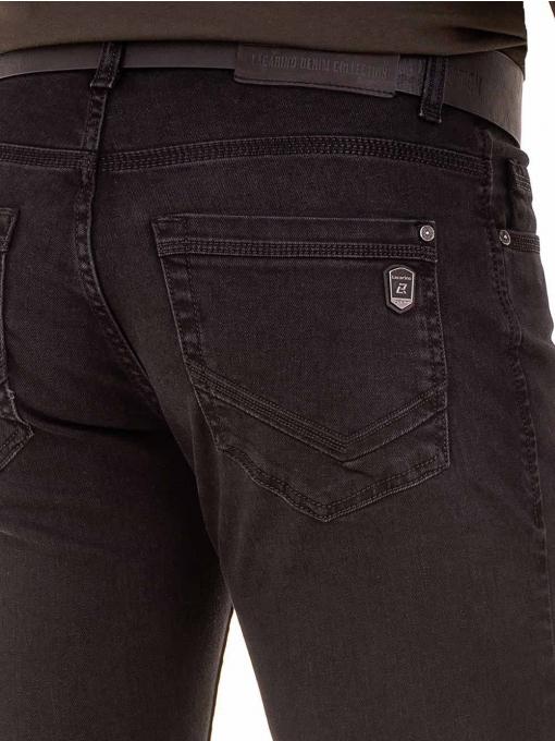 Мъжки класически дънки LACARINO с колан 4727 - тъмен деним D