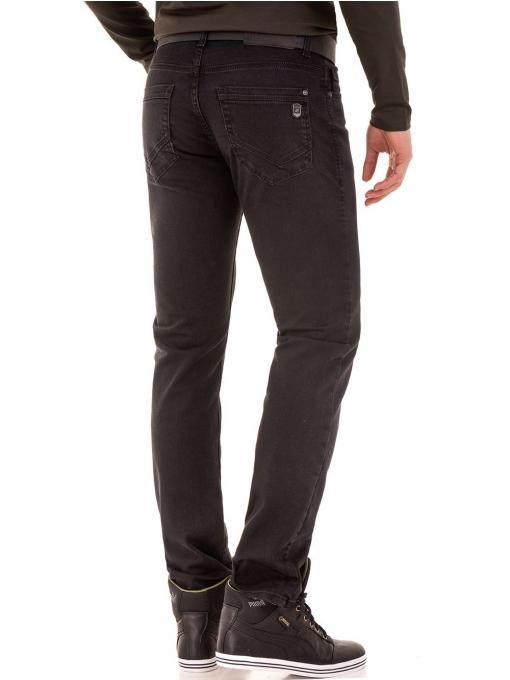 Мъжки класически дънки LACARINO с колан 4727 - тъмен деним B