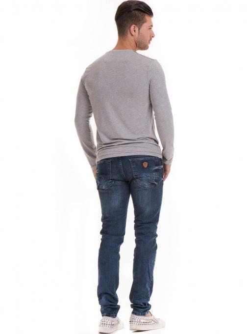 Мъжки дънки ORONERO 7458 с колан - деним E